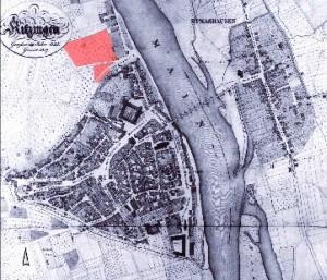 historischer Stadtplan Kitzingen